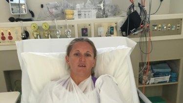 Melinda Fisher was rushed to Sandringham Hospital after the incident.