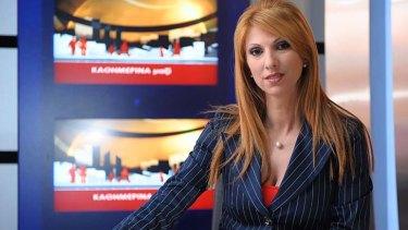 Life in prison: Cypriot TV anchor Elena Skordelli.