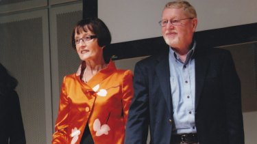 ''I don't want people to fear dementia or be isolated'': Christine Bryden with her husband Paul.