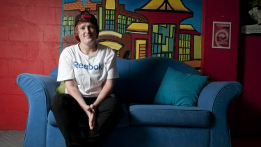 Couch surfer Chantelle Bambling, who is 20-years old, at Salvation Army Fortitude Valley.