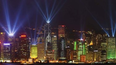 Greener option … a laser show, such as Hong Kong's A Symphony of Lights, could replace Sydney's harbourside fireworks.