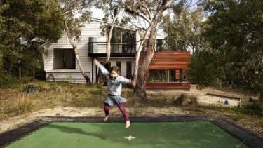 All fun: Andrew Maynard's beach house in Anglesea.