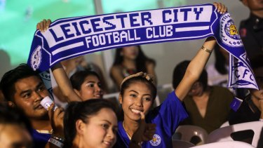 World-wide support: Leicester City fans are popping up everywhere, including Thailand.
