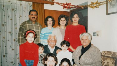 Sam Al Maraee and his family at the family home in Baghdad, Iraq, before they immigrated to Australia.