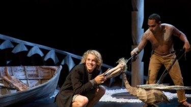 Company: Otis Pavlovic and Anthony Mayor in the Sydney Theatre Company/Barking Gecko Theatre production of <i>Storm Boy</i>.