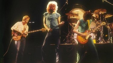 Ramble on: Led Zeppelin on stage in the Netherlands, in 1980.