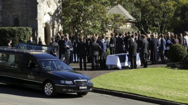 Hundreds have turned up  for the funeral of Thomas Kelly.