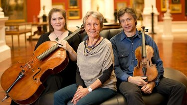 Generous endowment … Australian String Quartet members Rachel Johnston and Stephen King with Ulrike Klein, centre, of the Ngeringa Farm Arts Foundation.