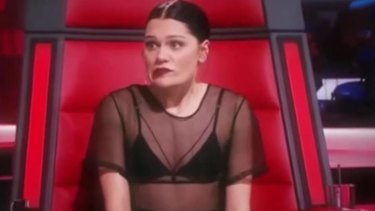 Jessie J looked surprised by Goodrem's reaction.