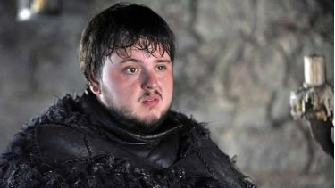 Heroic and heavy: Samwell Tarly from <i>Games of Thrones</i>.