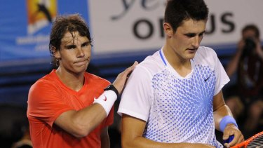 Bad luck: Bernard Tomic will face top seed Rafael Nadal in the first round of the Australian Open.