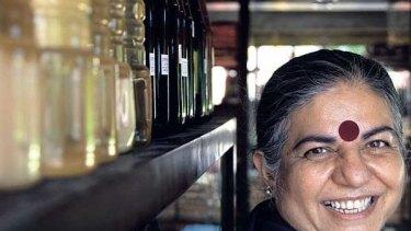 Vandana Shiva, who will receive a peace prize in Australia next week.