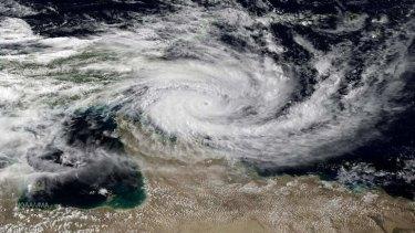 Cyclone Ita sits menacingly over north Queensland.