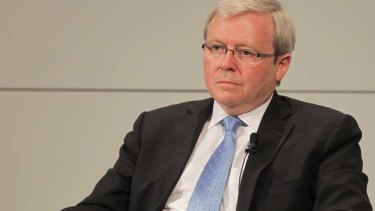 "Kevin Rudd at the Munich Security Conference yesterday ... ""Abbott would prefer the status quo, given he has the measure of Gillard."""