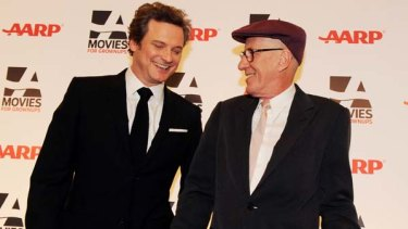 The King's Speech actors Colin Firth (L) and Geoffrey Rush .