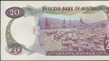 Sheep, and lots of 'em, were pencilled in as the stars of the 20 royal note.