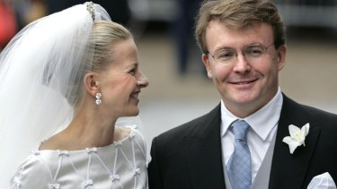Dutch Prince Johan Friso and Mabel Wisse Smit on their wedding day in 2004.