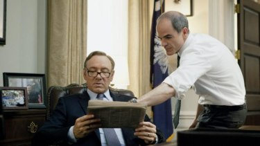 Michael Kelly, who plays the president's chief of staff in House of Cards, says its best to take a little walk during binge viewing of series.