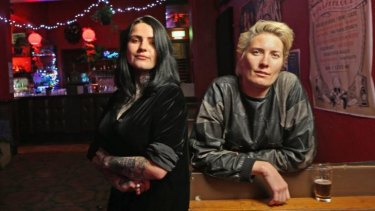Katie Pearson (right) with bar manager Annabel Loten at Yah Yah's.