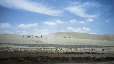 Plains of pain … North Sinai's unforgiving landscape.