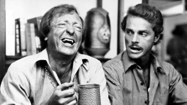 Harold Hopkins, right, had major roles in several Australian television series and movies, including <em>Don's Party</em> (1976) with Graham Kennedy.