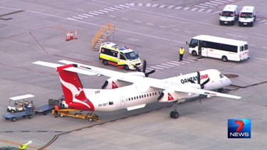 The plane forced to land at Brisbane Airport after smoke filled its cockpit.