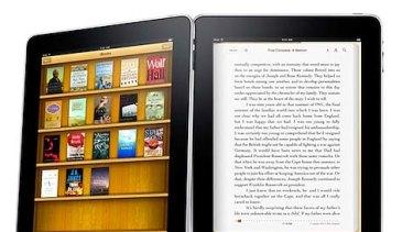Apple's iBooks app on the iPad.