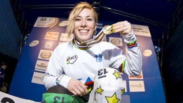 Spoils of victory: Caroline Buchanan.