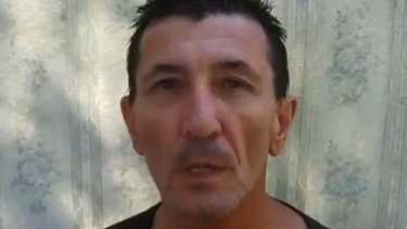 Hostage Warren Rodwell shown on Thursday the 27th of December 2012 in a YouTube video confirming that he is alive.