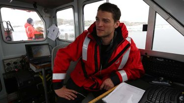 Errors found: Lieutenant Peter Waring on board the hydrographic survey boat Wyatt Earp.