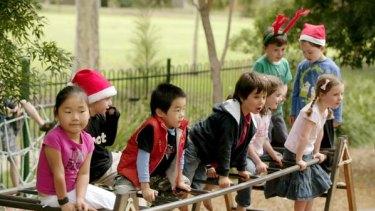 New students at Hawthorn West Kindergarten