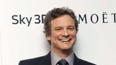 Winning streak ... Colin Firth holds the Best Actor award.