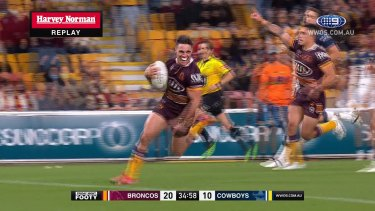 The Brisbane Broncos take on the North Queensland Cowboys at Suncorp Stadium in round 20 of the NRL season.