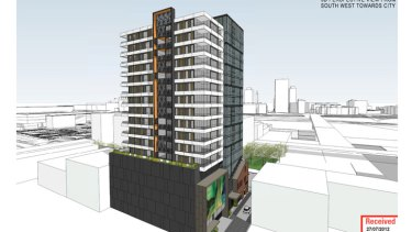 Plans for Aria Property Group's $70 million Grey Street Tower in South Brisbane.