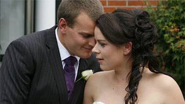 Emma Howard and Chris Greenslade ... married today at the Christ the King church centre in Christchurch.