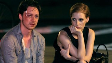 Jessica Chastain, with co-star James McAvoy, is never less than compelling.