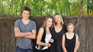 A turnaround for the teenagers ... Amanda Haberecht and her children Clay, 17, Lily, 13, and Tilda, 11.