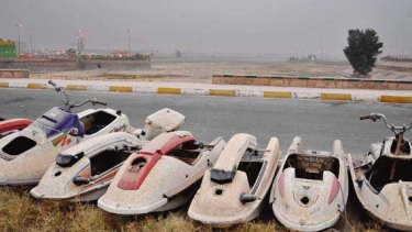 This water park, which has fallen on hard times because Iraq's government cannot maintain it.