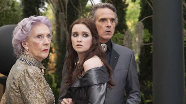 Luvvies launch a pantomime … Eileen Atkins, Alice Englert and Jeremy Irons star in a film that tells a tale of witches casting spells in South Carolina, with a hint of humour and a teenage love story to drive the plot.