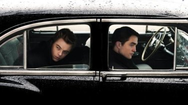 Dane DeHaan (left) as James Dean and Robert Pattinson as the photographer Dennis Stock in Anton Corbjin's film <i>Life</i>.