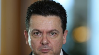 Not happy: Nick Xenophon wants the Facebook page taken down.