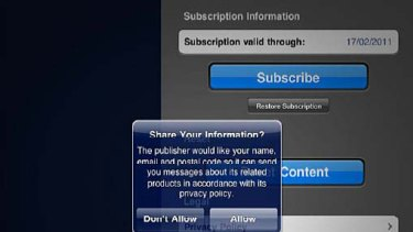 Media companies fear that Apple's restrictions will see them lose access to valuable subscriber information.