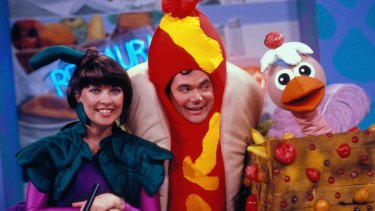 Blast from the past - Jacki MacDonald, Daryl Somers and Ossie Ostrich in Hey Hey It's Saturday back in 1987.