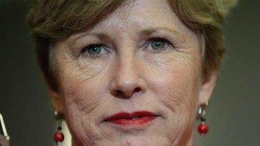 Pretty much. Greens leader Senator Christine Milne addresses the media on Wednesday. Photo: Alex Ellinghausen
