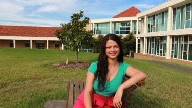 Paving the way ... UWS student Kate French, on the Campbelltown campus, is the first in her family to go to university.