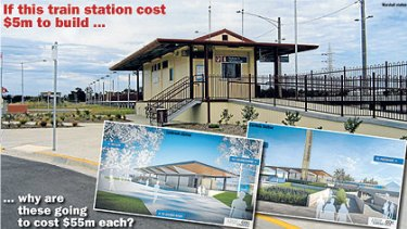 The cost of building four new stations has jumped to $220 million.