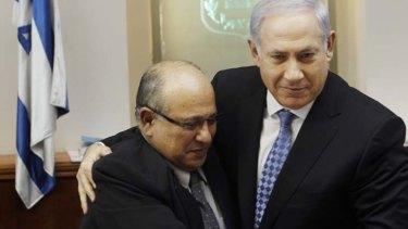 Outspoken ... Ex-head of Mossad, Meir Dagan, pictured with Israeli Prime Minister Benjamin Netanyahu.