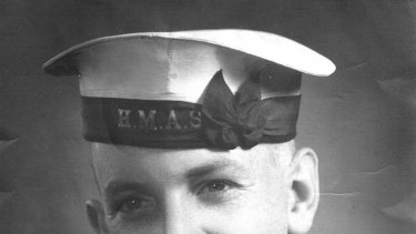 "Don Ritchie in navy  uniform ... ""a smile that could light up the room."""