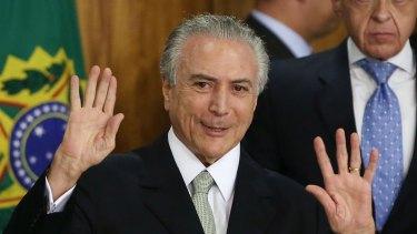 Brazil's interim President Michel Temer.