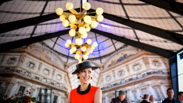 Bec Hewitt at the Milan-themed Lavazza marquee, which was unveiled to the media on Thursday.